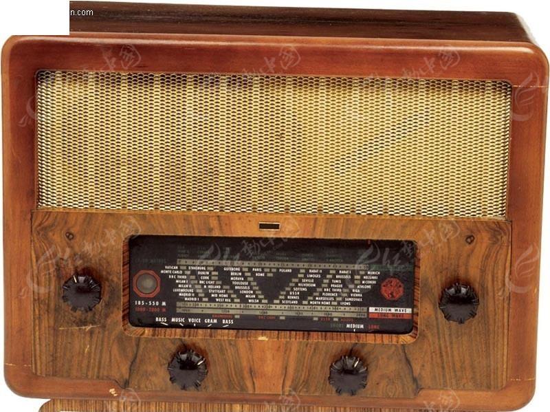 调频旋钮收音机 木质外壳收音机