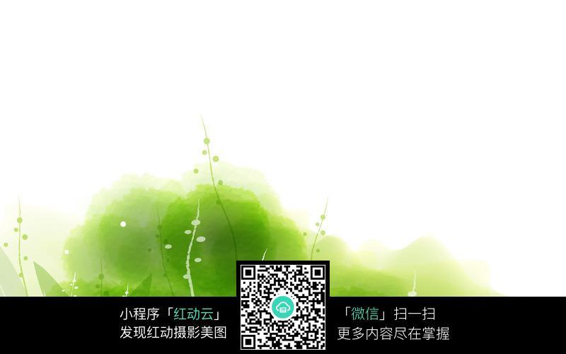 绿色绿植花边背景图片