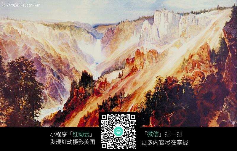 國外風景油畫圖片-傳統書畫|吉祥圖案|藝術圖片下載