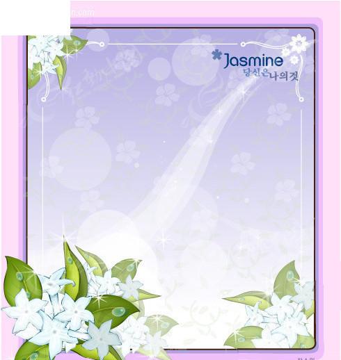 茉莉 花边边框矢量图 边框相框 高清图片