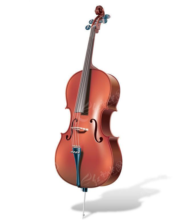 矢量逼真小提琴矢量图_影音娱乐