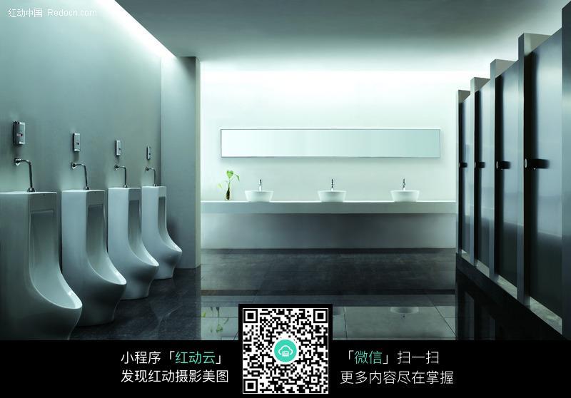 公共洗手间效果图图片 高清图片