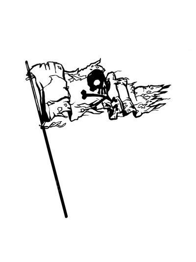 骷髅图片简笔画 手绘
