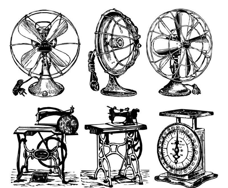平车缝纫机电风扇 电风扇台式图片