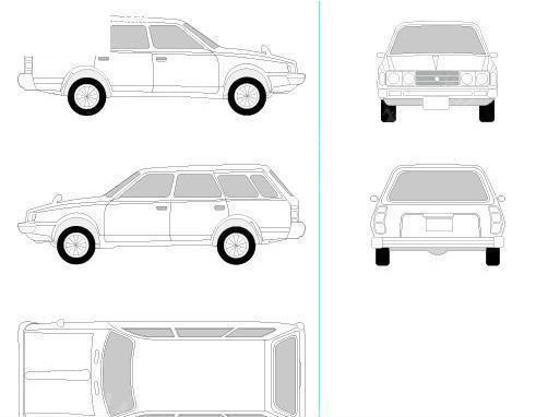 车矢量_笔触汽车和摩托车矢量素材矢量图编号23036