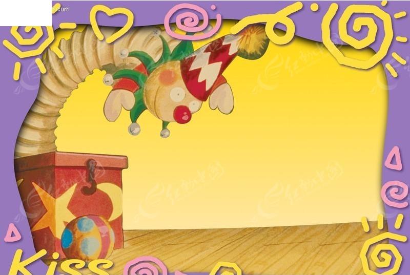 玩具小丑卡通相框