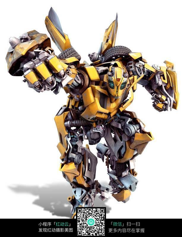 变形金刚 握着拳头前进的大黄蜂工业科技图片素材 jpg高清图片