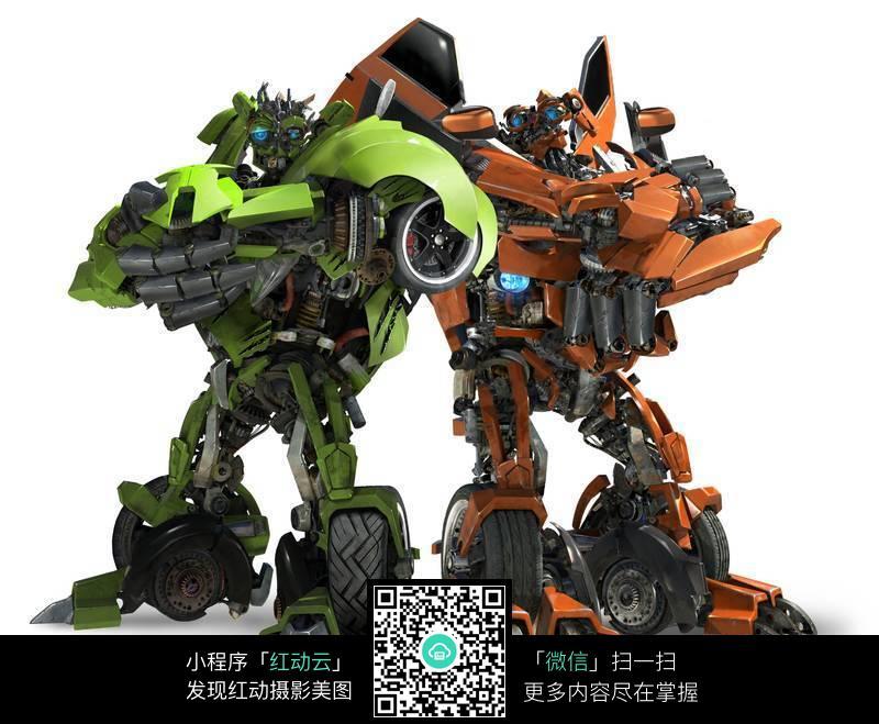 变形金刚汽车人双胞胎机器人图片