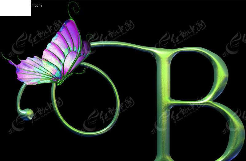 免费素材 字体下载 psd字体 英文字体 b字母蝴蝶艺术字  请您分享: 素图片