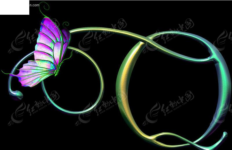蝴蝶的变形画创意