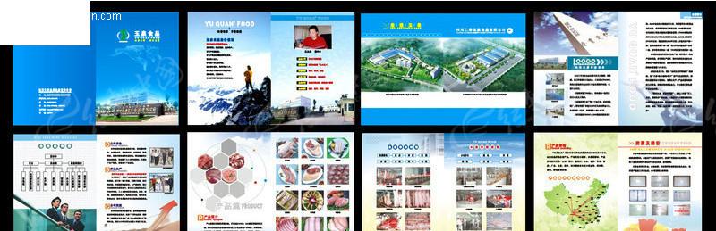 企业宣传册(玉泉食品) 食品公司画册设计 企业画册 画册设计 版式设计图片