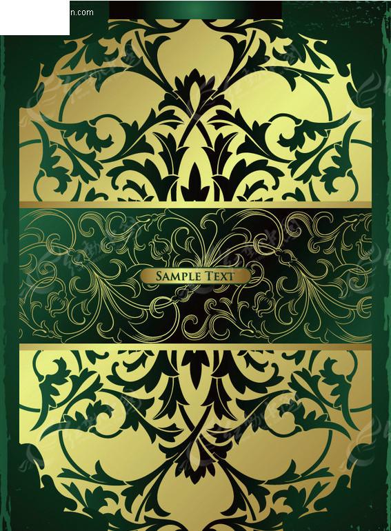 华丽欧式花纹边框素材