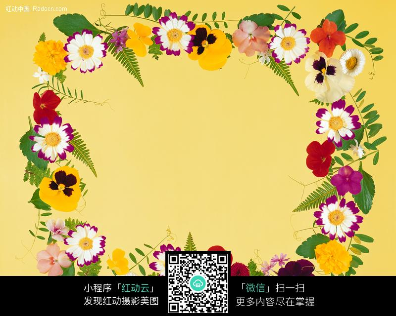 金色小装饰花边 唯美粉红鲜花组成的花边 中国民族风黑白传统花纹 一