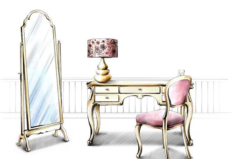 室内手绘椅子图