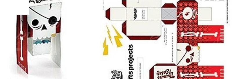 个性包装设计图案展开图