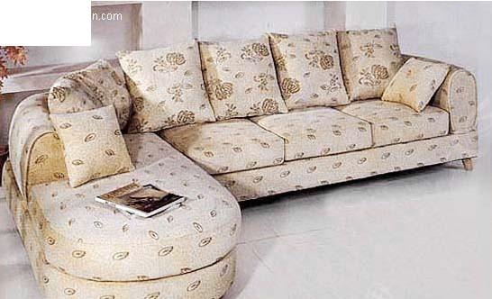 现代欧式组合转角沙发3d 精美时尚客厅转角沙发 不锈钢底座橙黄转角