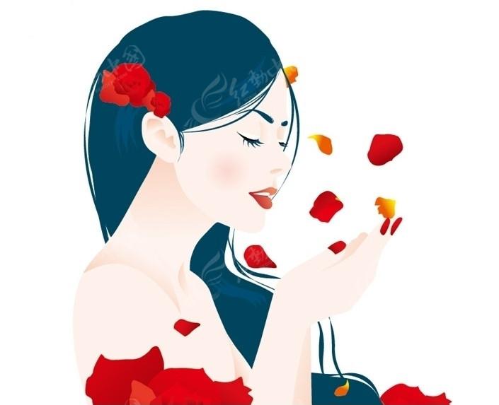 玫瑰 花瓣 女孩