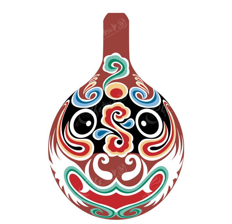 创意手绘马勺青花瓷