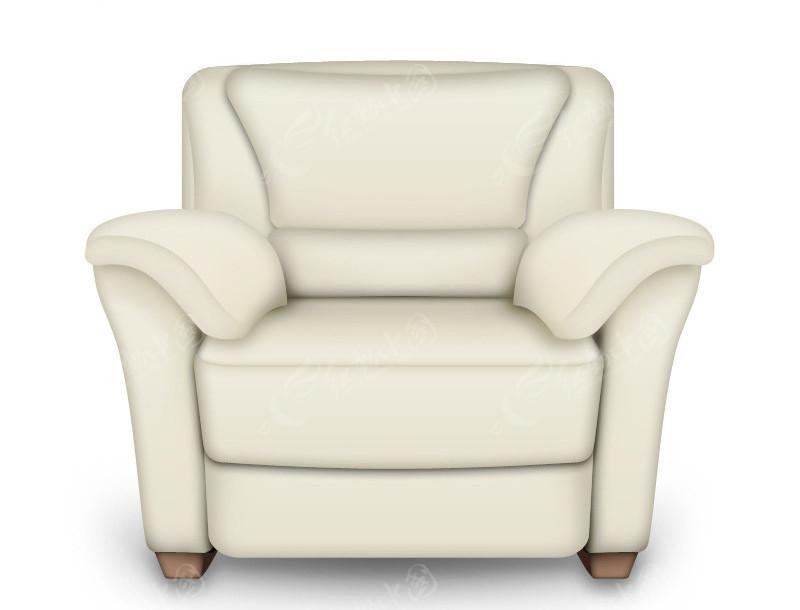 ps手绘白色沙发