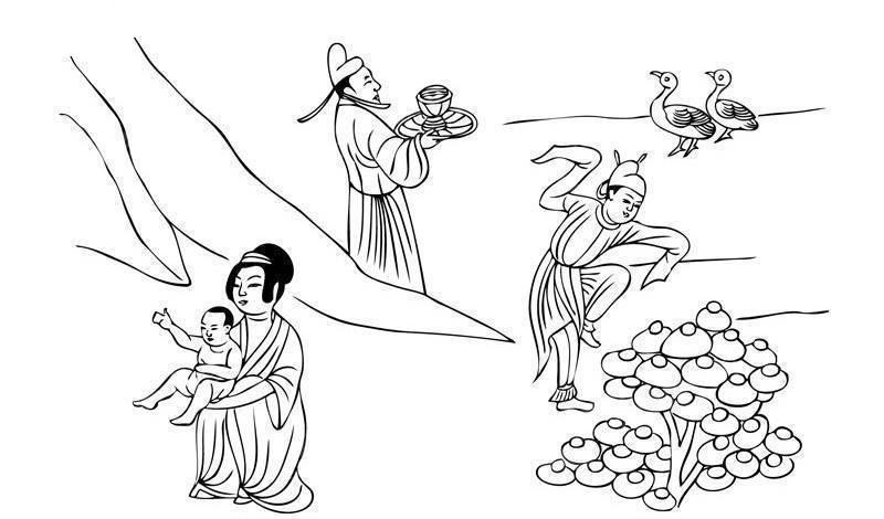 敦煌壁画图片 古代人物生活图