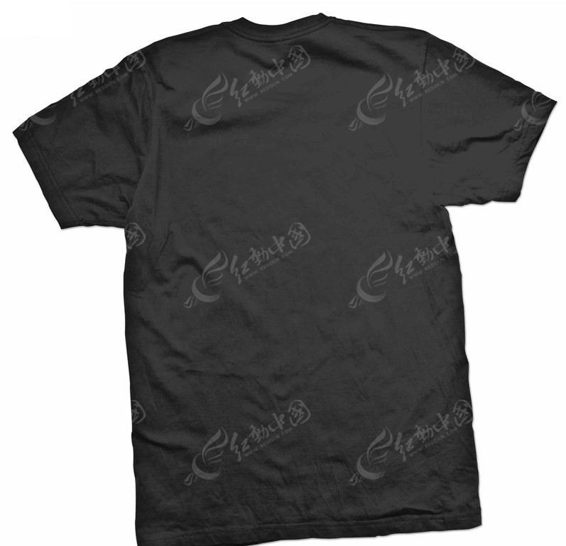 背面黑色t恤设计模板psd素材免费下载_红动网图片