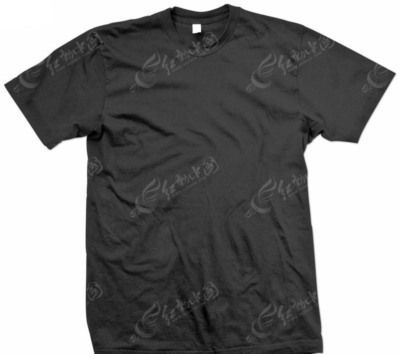 正面黑色t恤设计模板