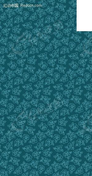 蓝底牡丹花背景矢量图_底纹背景图片