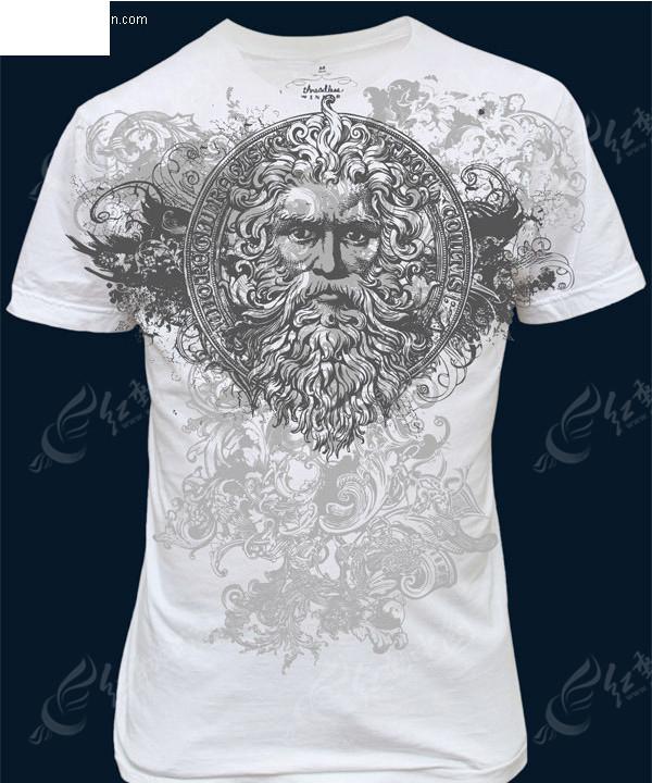 一款t恤图案设计矢量素材图片