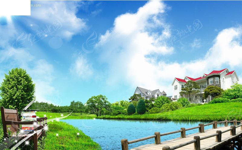 免费素材 psd素材 psd分层素材 风景 水景别墅图片  请您分享: 素材