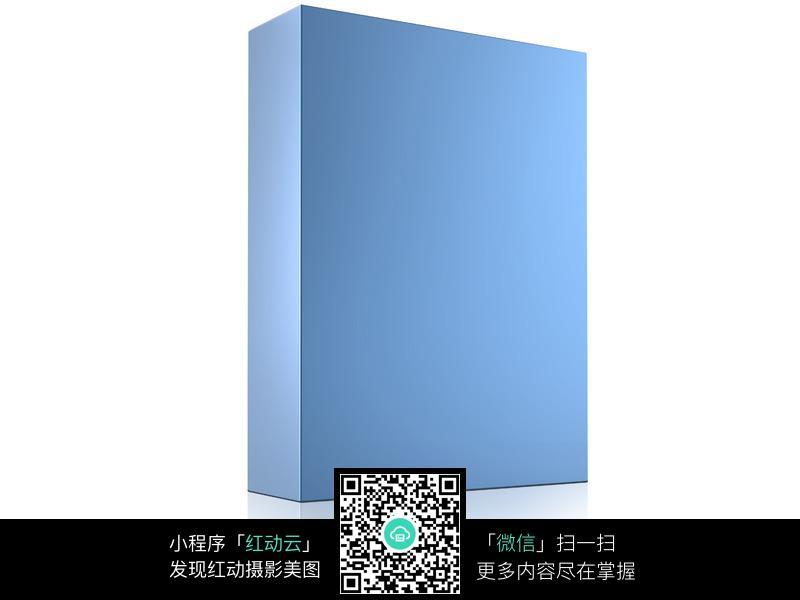 蓝色的空白纸盒模板图片