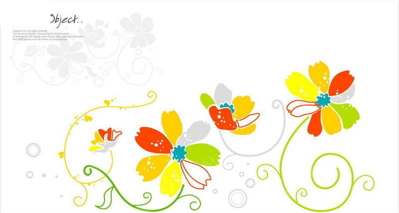 花纹 花卉 线条 色彩简单 图案简约时尚  花纹素材 花边 花边素材