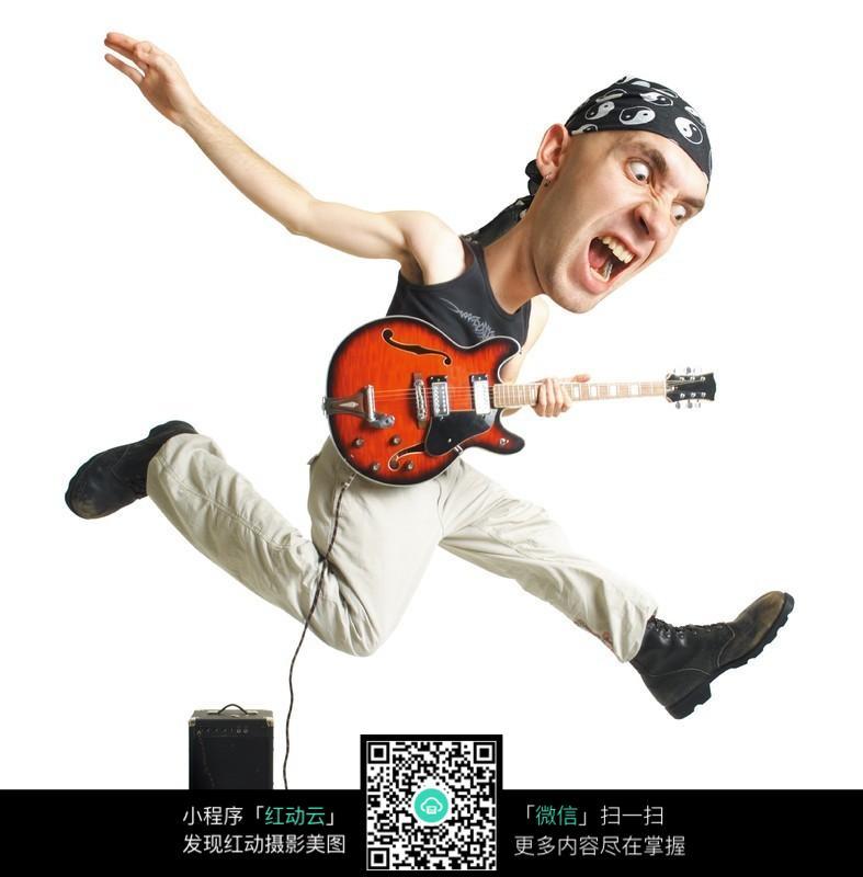 吉他演奏青年-ps人物图片