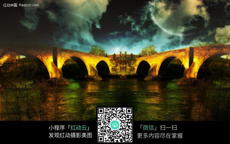 古老的石拱桥图片