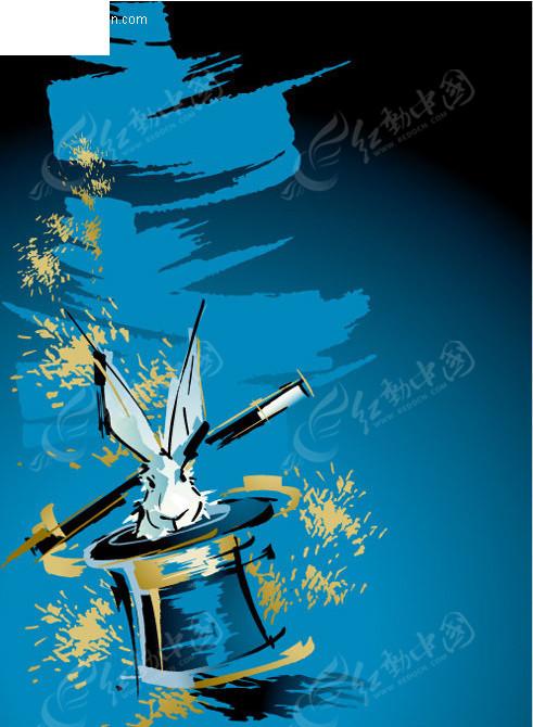 魔术表演海报模板 矢量海报设计模板 矢量宣传海报模板 矢量海报背景