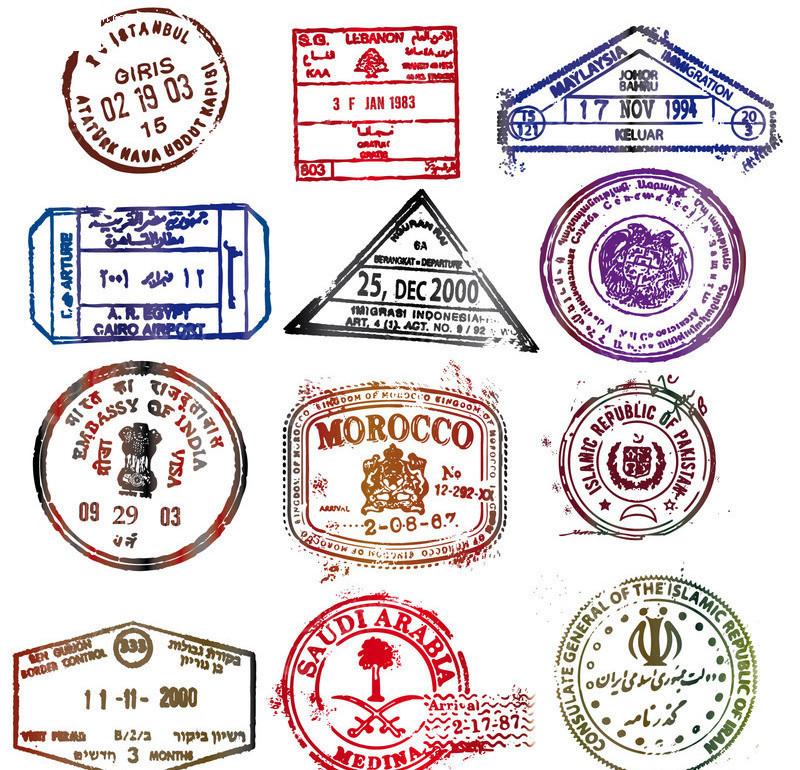 国外邮票印章标章图片