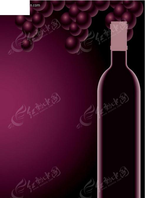 手绘矢量红酒图片