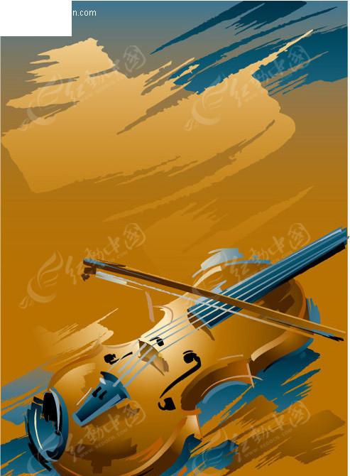 手绘小提琴图片大全展示图片