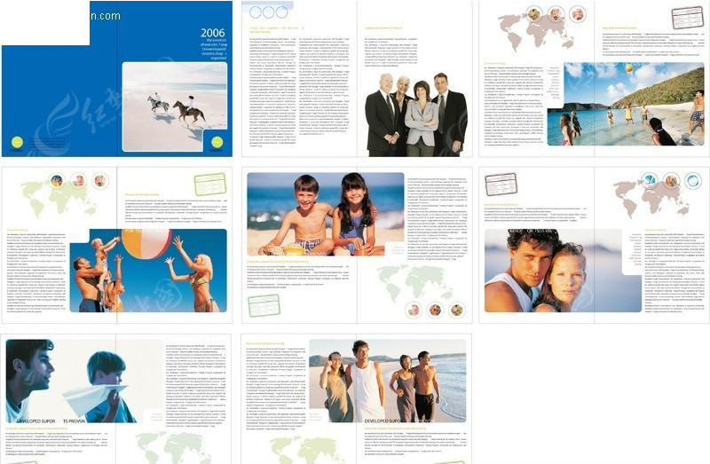 旅游公司画册版式设计模板