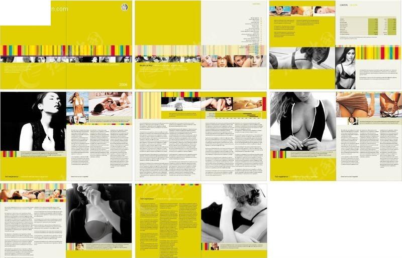 服装画册版式设计模板图片