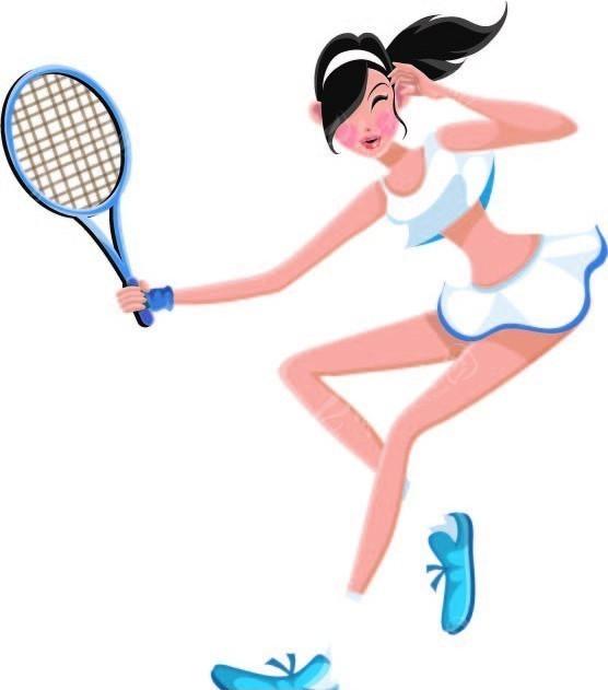 女孩-打网球