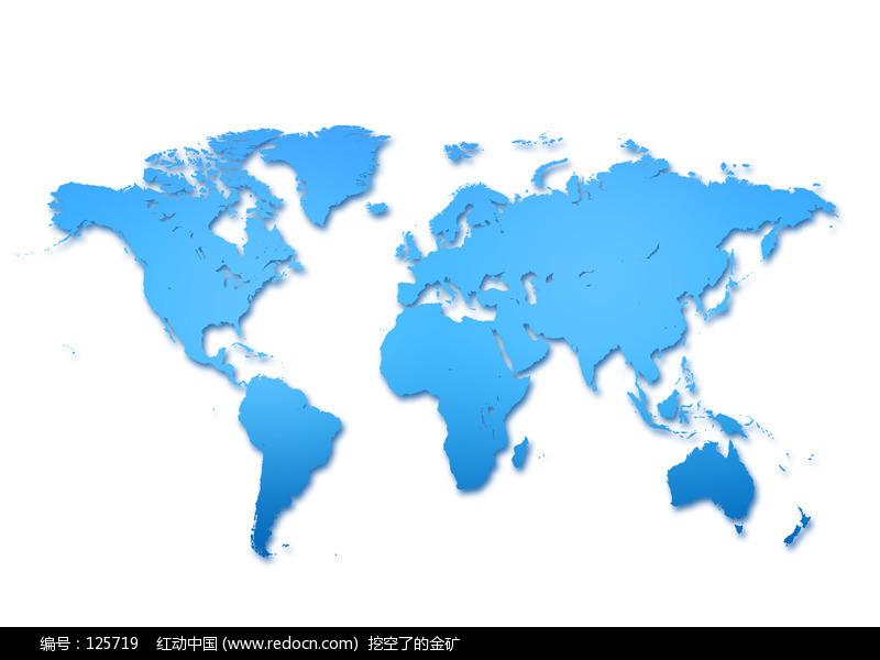 蓝色世界地图背景图图片