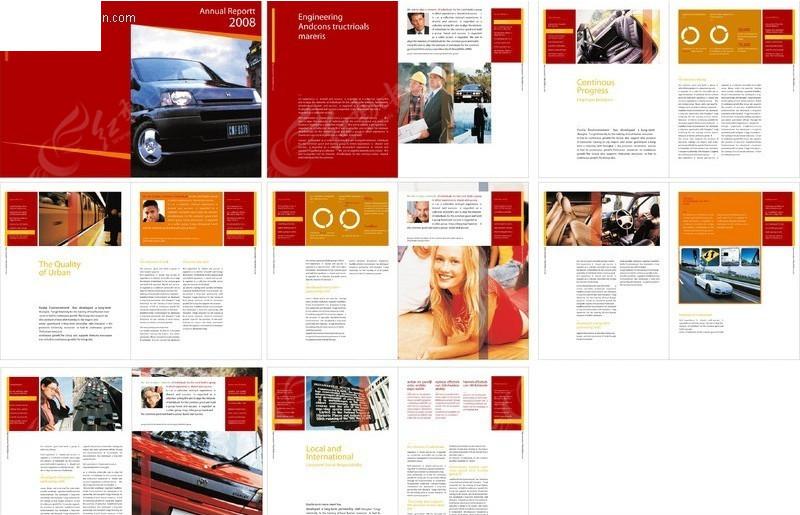 汽车画册版式设计模板图片