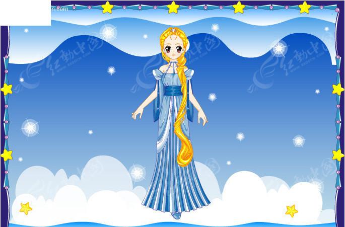 梦幻公主卡通十二星座之处女
