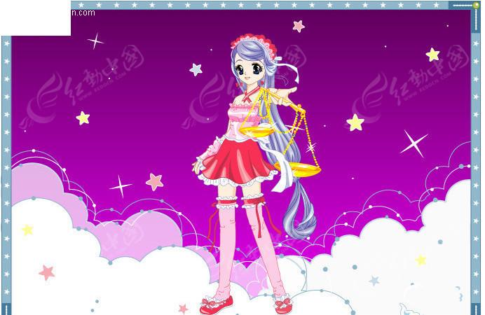梦幻公主卡通十二星座之天秤