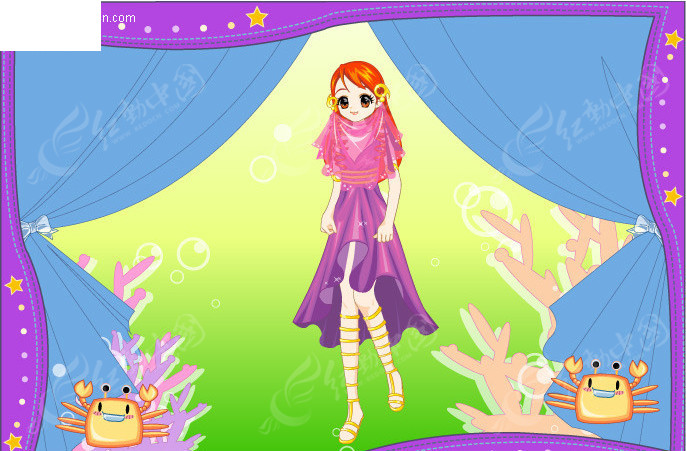 公主卡通洁癖十二星座之巨蟹巨蟹座女对梦幻图片