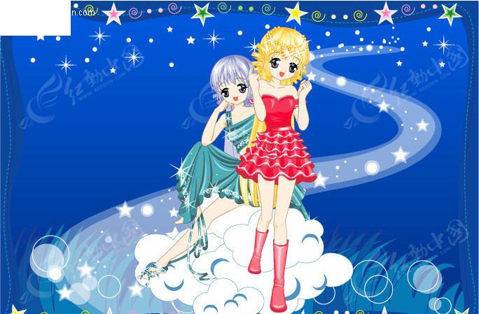 梦幻公主卡通十二星座之双子