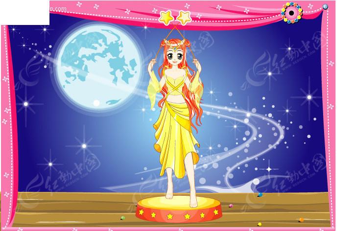 梦幻公主卡通十二星座之天蝎
