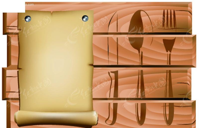 餐厅菜单模板-餐饮美食矢量图下载(编号:127380)
