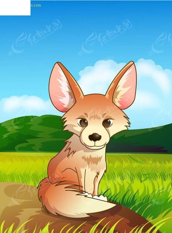 矢量卡通动物-狐狸