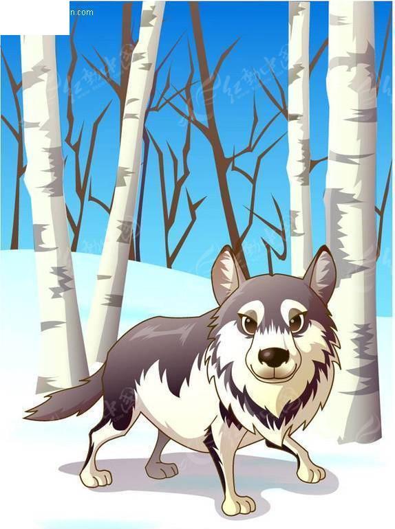 矢量卡通动物-狼矢量图ai免费下载_陆地动物素材